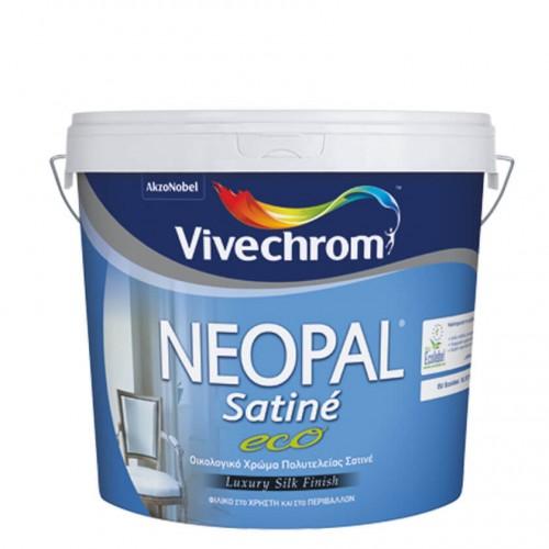 NEOPAL SATINE ECO, Vivechrom. Oικολογικό πλαστικό χρώμα πολυτελείας Λευκό 1 Lt