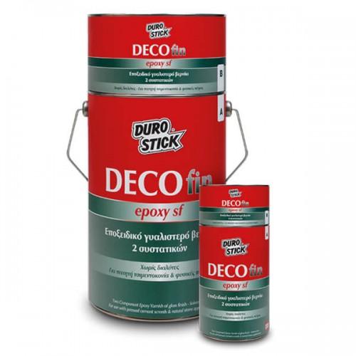 DECOfin Epoxy SF Durostick.  Εποξειδικό γυαλιστερό βερνίκι 2 συστατικών. 750 gr