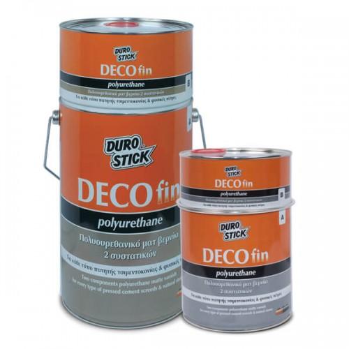 DECOfin Polyurethane Durostick. Πολυουρεθανικό ματ βερνίκι 2 συστατικών. 750 gr