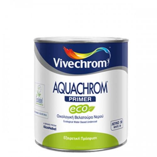 AQUACHROM PRIMER ECO, Vivechrom. Oικολογική βελατούρα νερού ιδανική για εσωτερικές ξύλινες επιφάνειες 750 ML