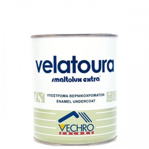 VELATOURA SMALTOLUX, Vechro. Υπόστρωμα ξύλινων επιφανειών. Λευκό 750 ML