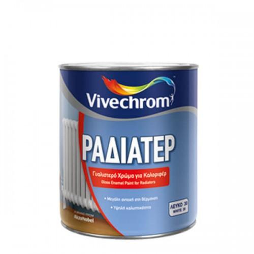 ΡΑΔΙΑΤΕΡ, Vivechrom. Γυαλιστερό βερνικόχρωμα για την βαφή σωμάτων καλοριφέρ 2,5 Lt