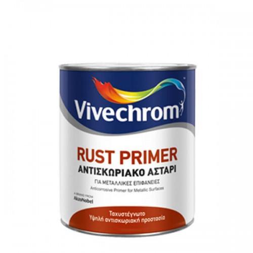 RUST PRIMER, Vivechrom. Tαχυστέγνωτο ισχυρότατο αντισκωριακό αστάρι 5 Lt