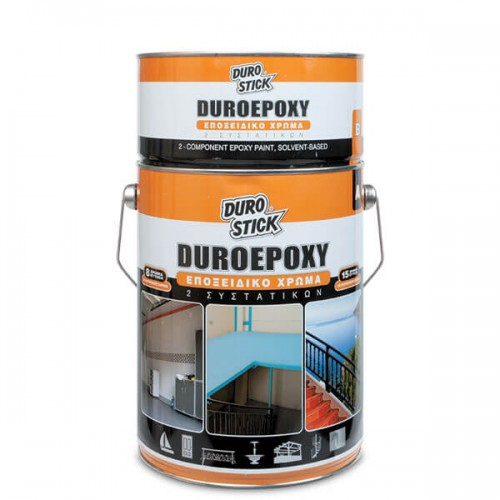 DUROEPOXY Durostick 4 Kg. Εποξειδικό χρώμα πισίνας 2 συστατικών με διαλύτες, Λευκό και Γαλάζιο
