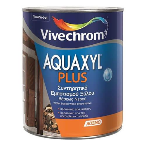 AQUAXYL PLUS, Vivechrom 750 ml. Άοσμο συντηρητικό εμποτισμού ξύλου βάσεως νερού