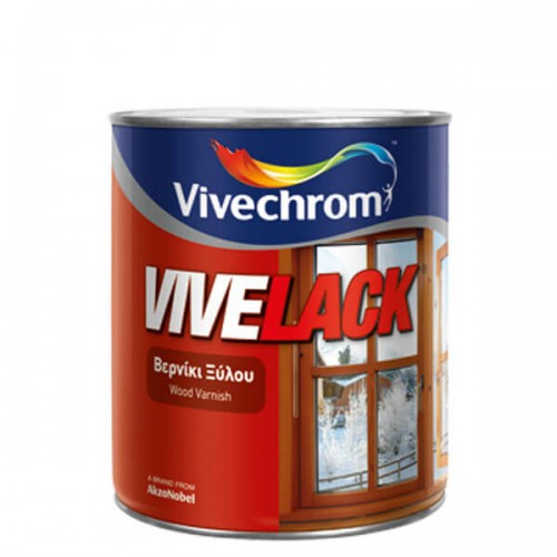 VIVELACK, Vivechrom 200 ml. Έγχρωμο διακοσμητικό και προστατευτικό βερνίκι ξύλου