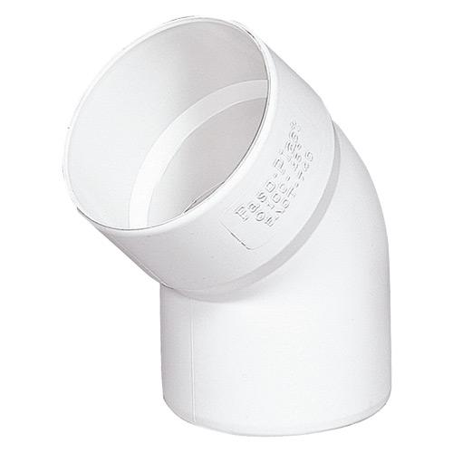 Γωνία Αποχέτευσης FASOPLAST Λευκή PVC - U 45° Φ32