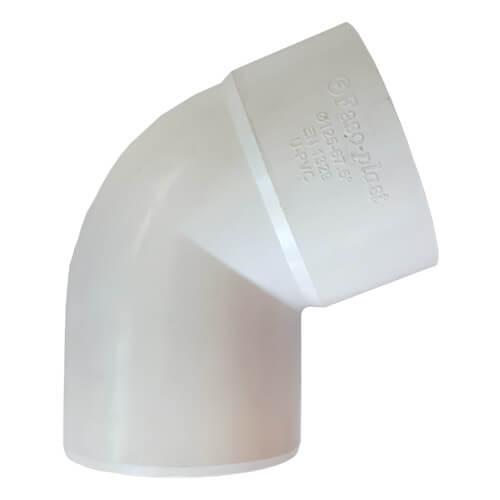Γωνία Αποχέτευσης FASOPLAST Λευκή PVC - U 67,5° Φ100