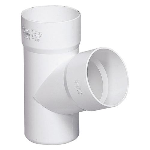 Ημιτάφ Αποχέτευσης FASOPLAST Λευκό PVC - U 67,5° Φ32