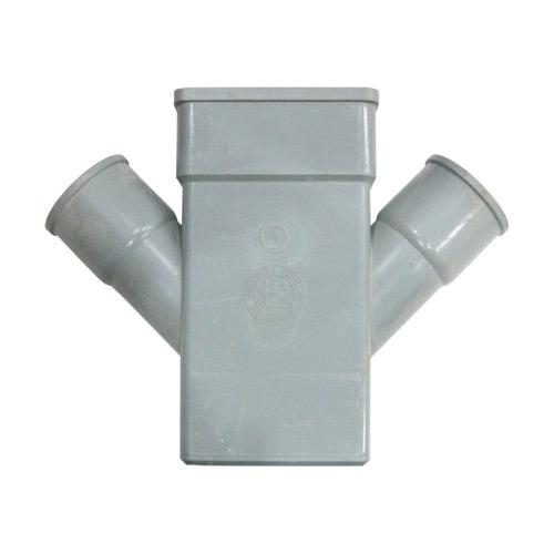 Hμιτάφ Πλάγιο Διπλής Διακλάδωσης (Ψ) FASOPLAST Φ50 x 6x10 x Φ50 Γκρι