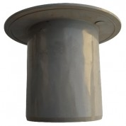 Παροχή Ταράτσας Στρογγυλή FASOPLAST Γκρι PVC - U Φ100