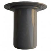 Παροχή Ταράτσας Στρογγυλή FASOPLAST Γκρι PVC - U Φ75