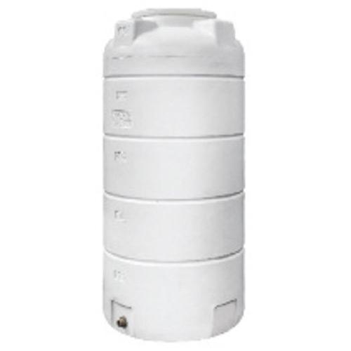 Πλαστική Δεξαμενή Πετρελαίου - Νερού Κάθετη Στενή Λευκή 500 Lt