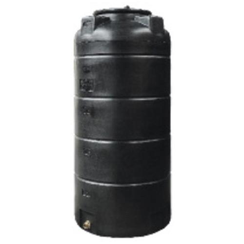 Πλαστική Δεξαμενή Πετρελαίου - Νερού Κάθετη Στενή Μαύρη 500 Lt