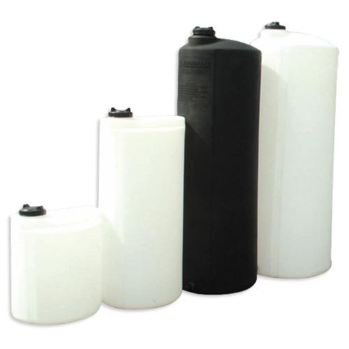 Πλαστική Δεξαμενή Πετρελαίου - Νερού Κυλινδρική Κατακόρυφη Ψηλή Μαύρη 650 Lt