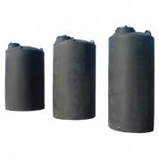 Πλαστική Δεξαμενή Πετρελαίου - Νερού Κυλινδρική Κατακόρυφη Ψηλή Μαύρη 10000 Lt Μεγάλου Όγκου