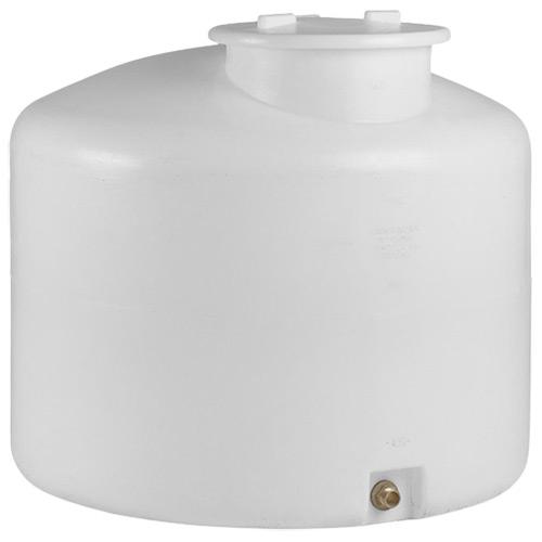 Πλαστική Δεξαμενή Πετρελαίου - Νερού Κυλινδρική Κατακόρυφη Λευκή 500 Lt