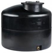 Πλαστική Δεξαμενή Πετρελαίου - Νερού Κυλινδρική Κατακόρυφη Μαύρη 1000 Lt