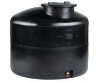 Πλαστική Δεξαμενή Πετρελαίου - Νερού Κυλινδρική Κατακόρυφη Μαύρη 500 Lt
