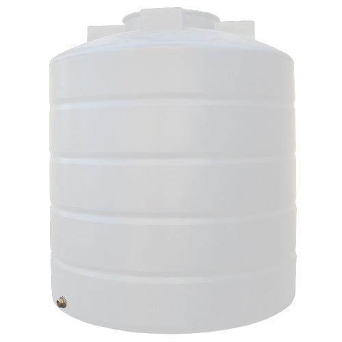 Πλαστική Δεξαμενή Πετρελαίου - Νερού Κυλινδρική Κατακόρυφη Λευκή 1500 Lt