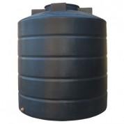 Πλαστική Δεξαμενή Πετρελαίου - Νερού Κυλινδρική Κατακόρυφη Μαύρη 1500 Lt
