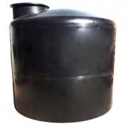 Πλαστική Δεξαμενή Πετρελαίου - Νερού Κυλινδρική Κατακόρυφη Μαύρη 2000 Lt