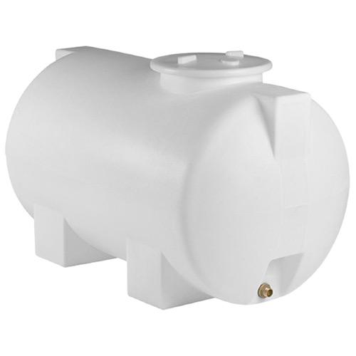 Πλαστική Δεξαμενή Πετρελαίου - Νερού Κυλινδρική Οριζόντια Λευκή 300 Lt