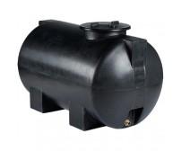 Πλαστική Δεξαμενή Πετρελαίου - Νερού Κυλινδρική Οριζόντια Μαύρη 300 Lt