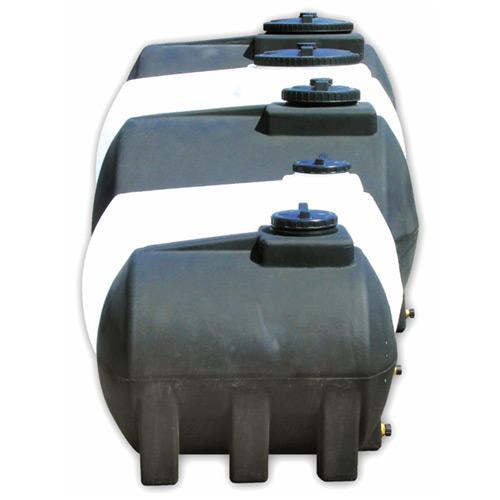 Πλαστική Δεξαμενή Πετρελαίου - Νερού Οριζόντια Κυλινδρική Λευκή 350 Lt