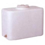 Πλαστική Δεξαμενή Πετρελαίου - Νερού Τετράγωνη Λευκή 300 Lt