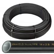 UNAVELD Σωλήνας Πολυαιθυλενίου PE-RT Φ16 x 2,0 mm 5 Στρωμάτων Φραγής Οξυγόνου Θέρμανσης - Ύδρευσης σε χρώμα Μαύρο